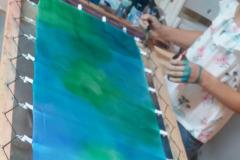 kék zöld színátmenetes